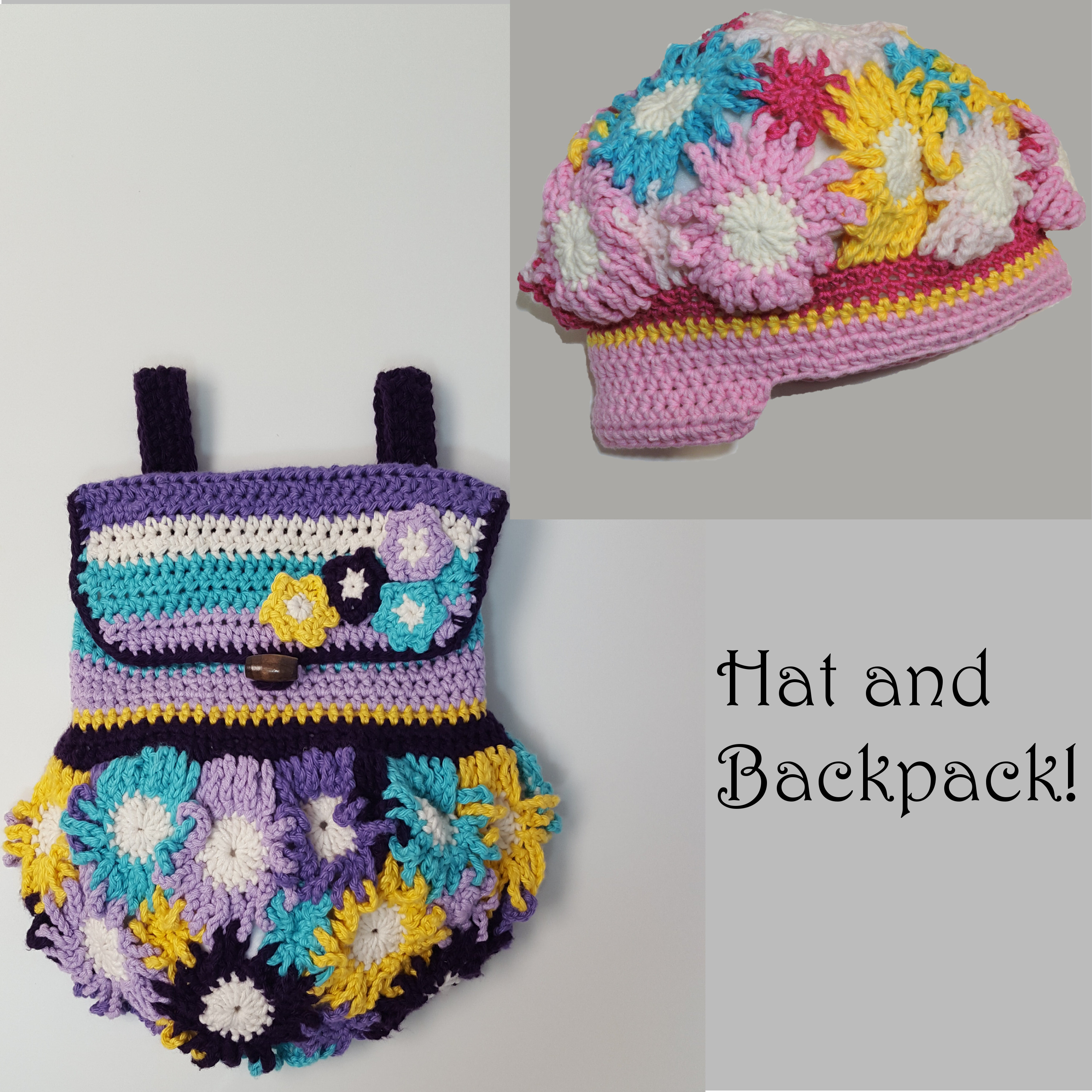hat and backpack