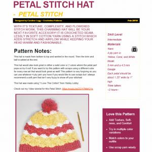Petal Stitch Winter Hat