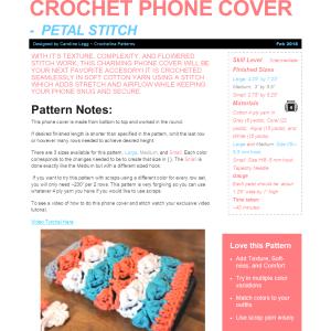 Petal Stitch Phone Cover