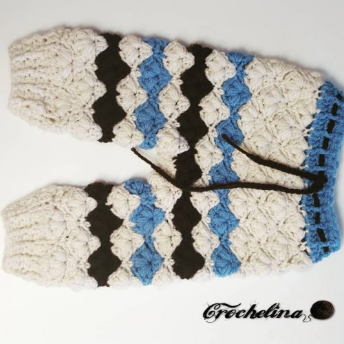 Petal Stitch Crochet Baby Pants