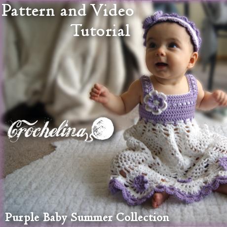 Crochet Pineapple Blossom Baby Dress Pattern