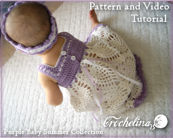 Crochet Pineapple Blossom Baby Dress Pattern